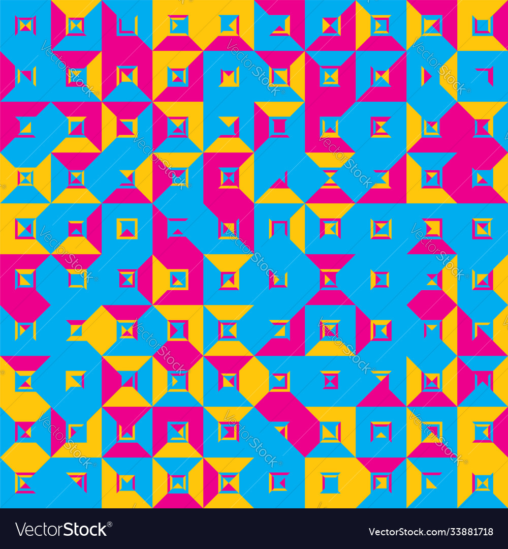 Seamless pattern geometric colorful abstract
