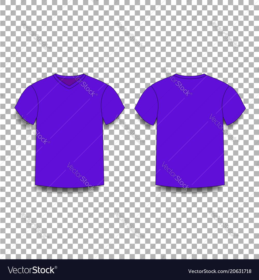 ef1414ba2 Violet men s t-shirt template v-neck front and Vector Image