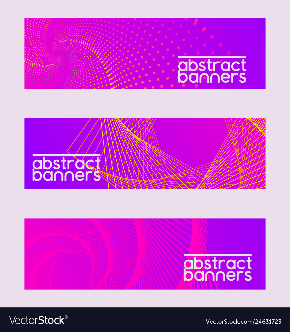 Abstract collection set of banners brochures