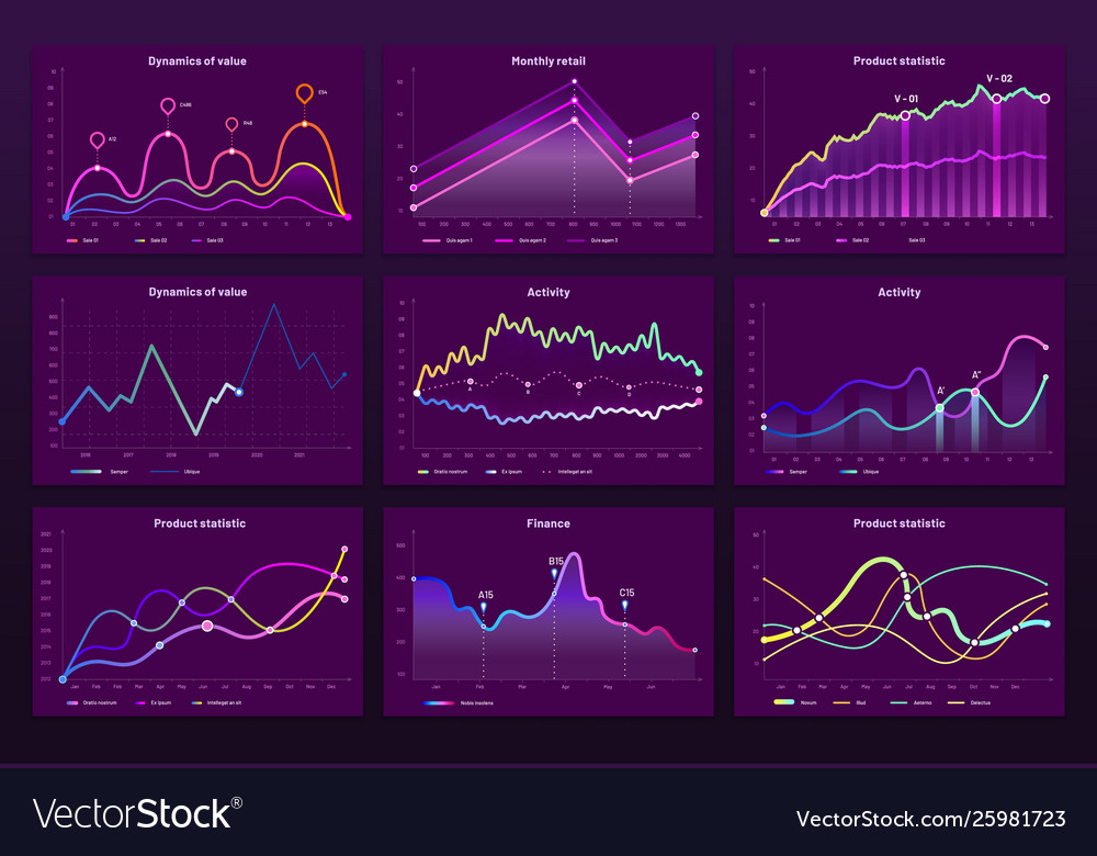 Abstract data charts statistic graphs finance