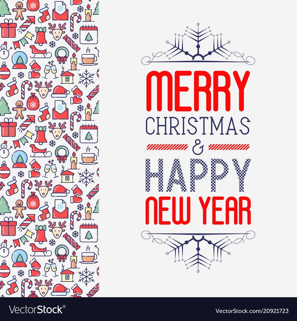 Christmas and new year greeting card concept