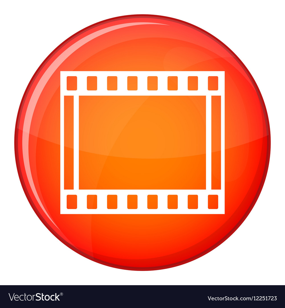 Film with frames movie icon flat style Royalty Free Vector