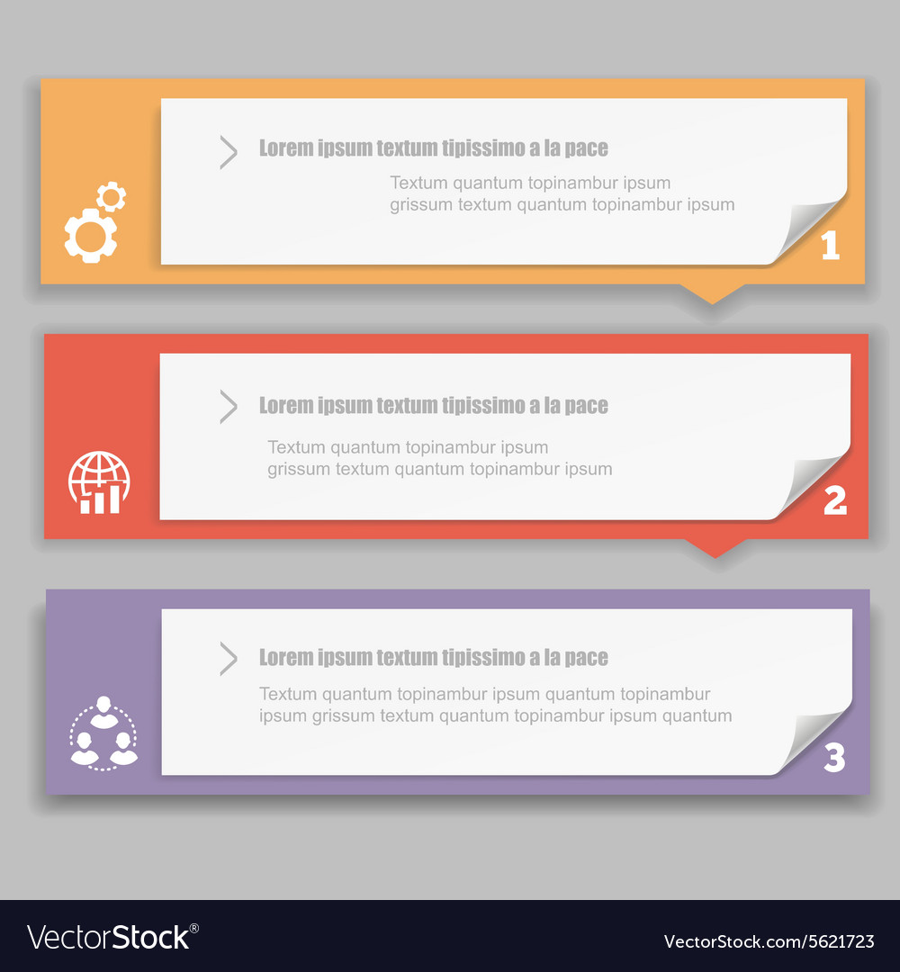 Infographics Design template with numbered