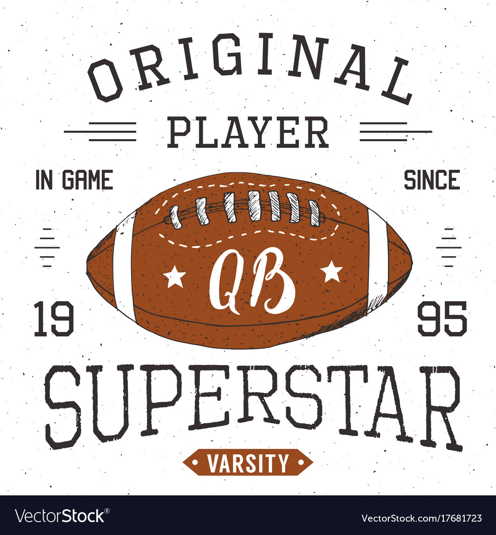 T-shirt design football quarterback superstar