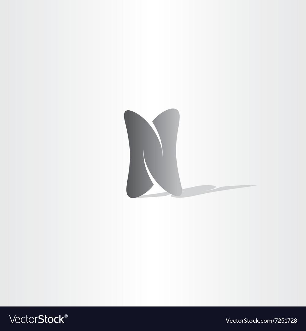 Black logo n logo letter n icon