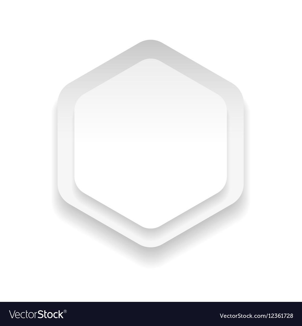 Empty hexagon sticker