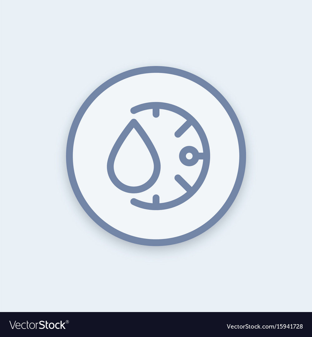Humidity icon in linear style round pictogram