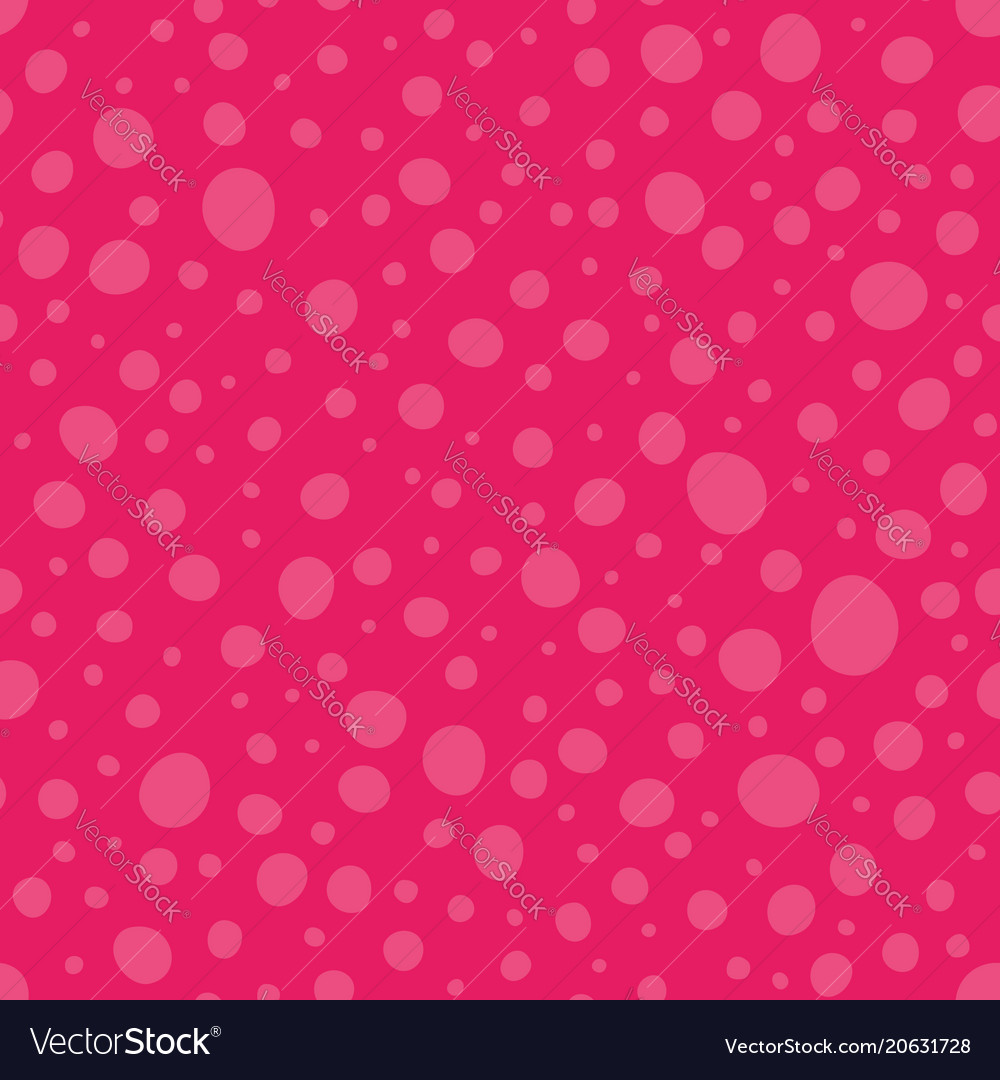 Pink wonky dots seamless pattern