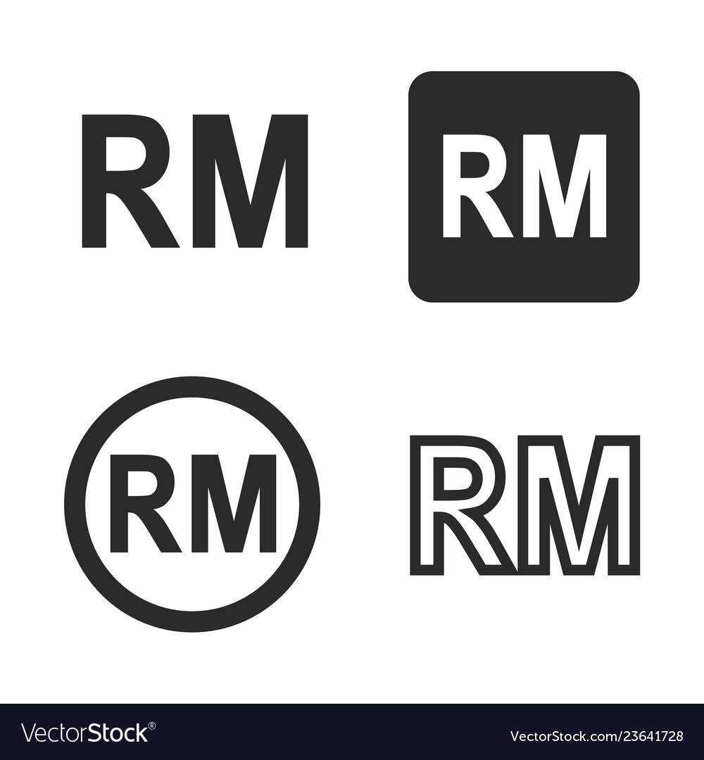 Ringgit currency symbol set