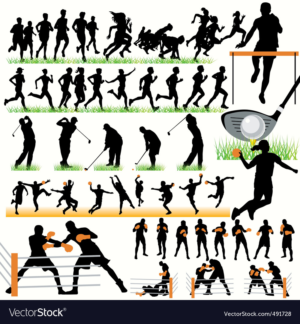 Sports set03 vector image