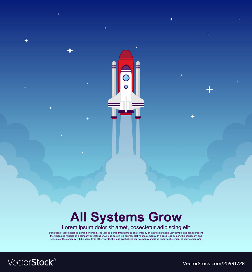 Startup simple rocket web design responsive web