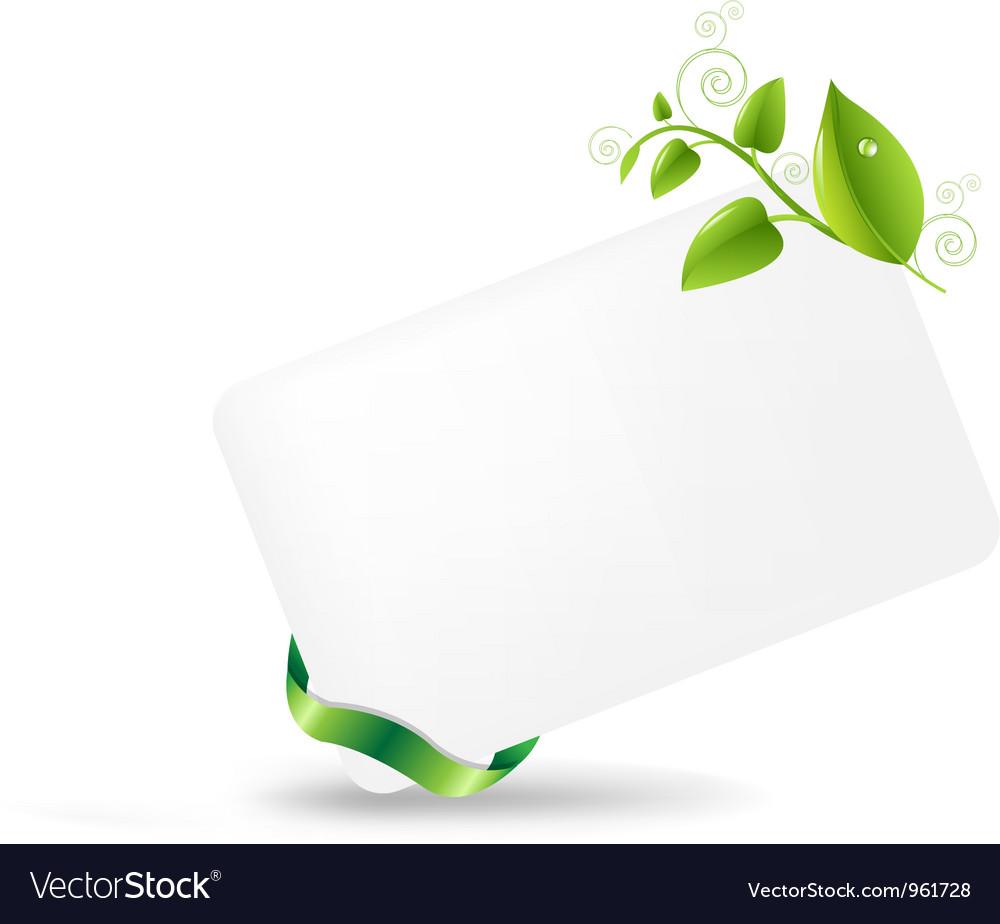 Vine Leaves Note vector image