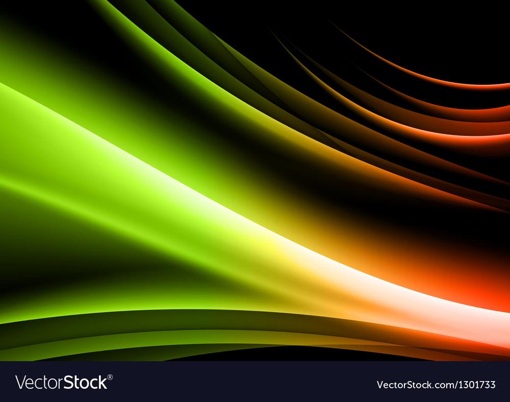 Abstract shape black green vector image