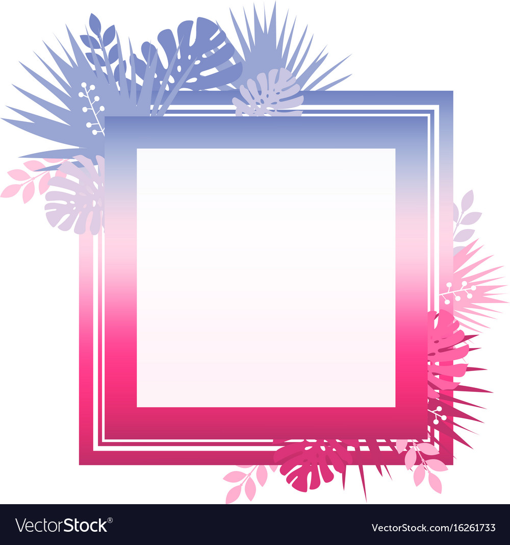 Abstract template with colorful gradient and vector image