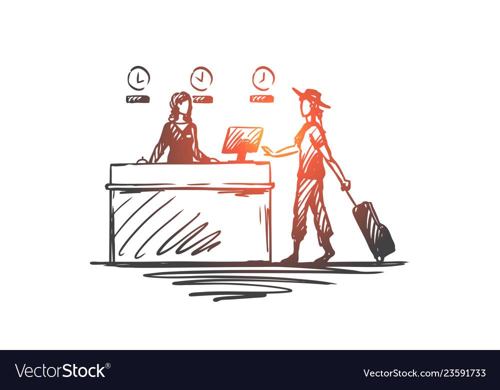 Airport business trip design businesswoman