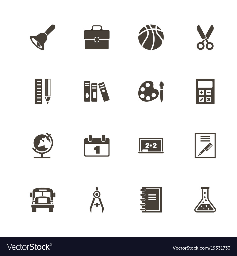 Back to school - flat icons vector image