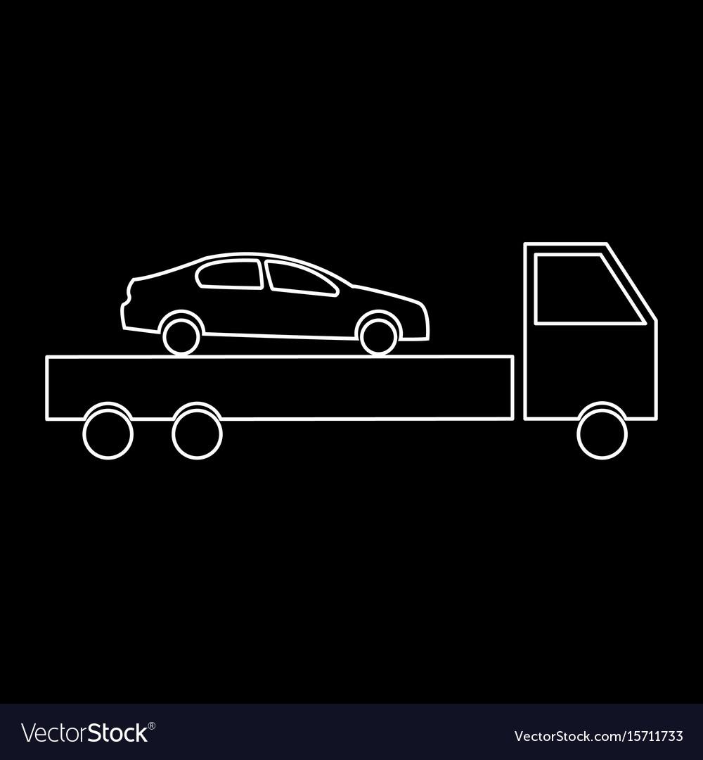 Car service the white path icon vector image