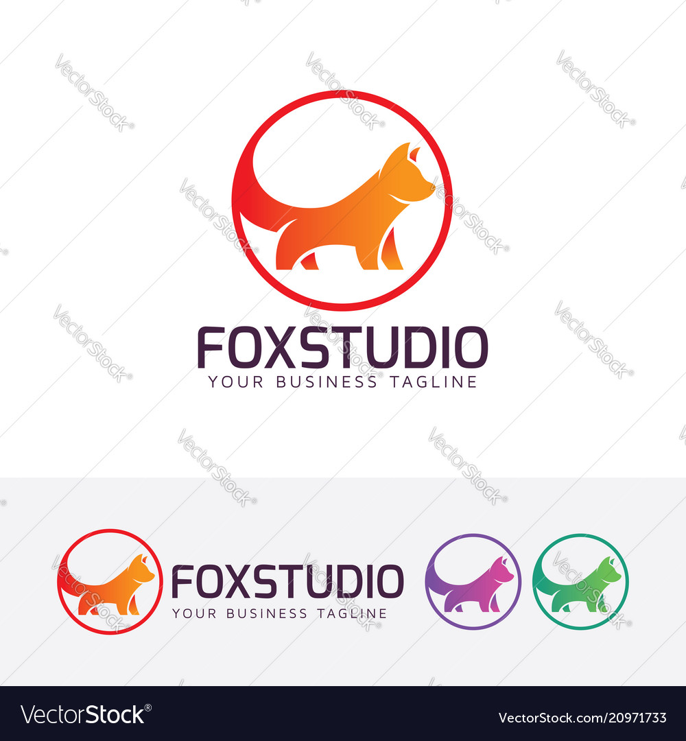 Fox studio logo design