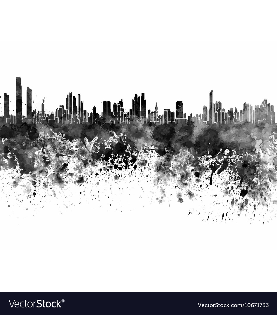 City Skyline Blackandwhite