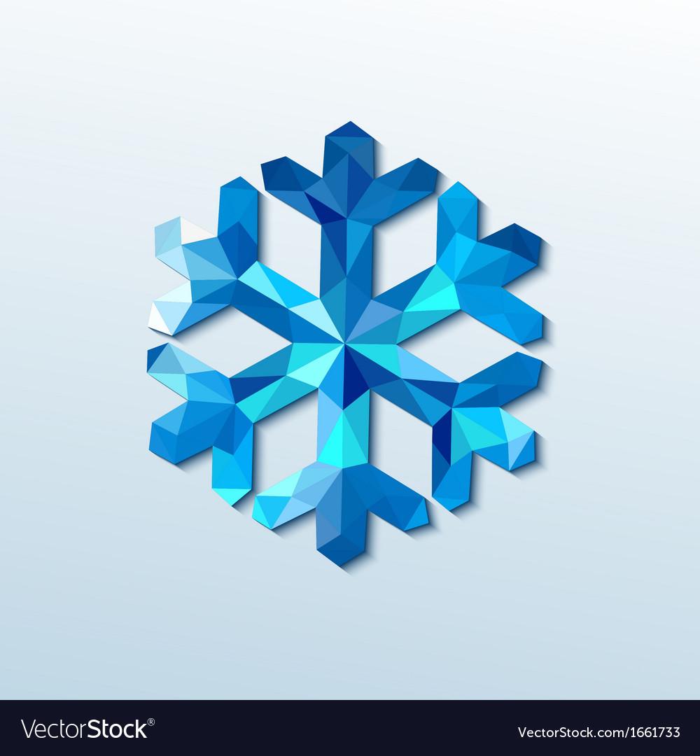 Polygonal christmas snowflake