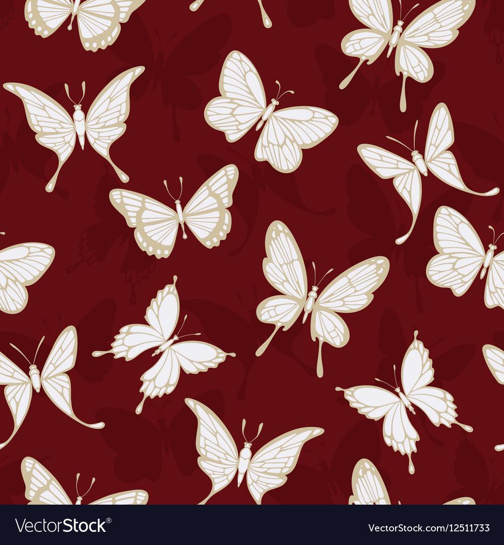 Seamless patterns with butterflies