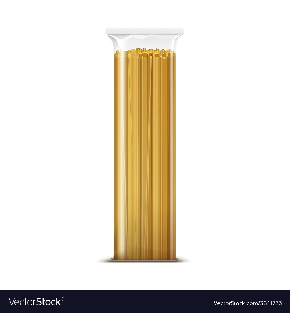 Spaghetti Pasta Packaging Template Isolated Vector Image