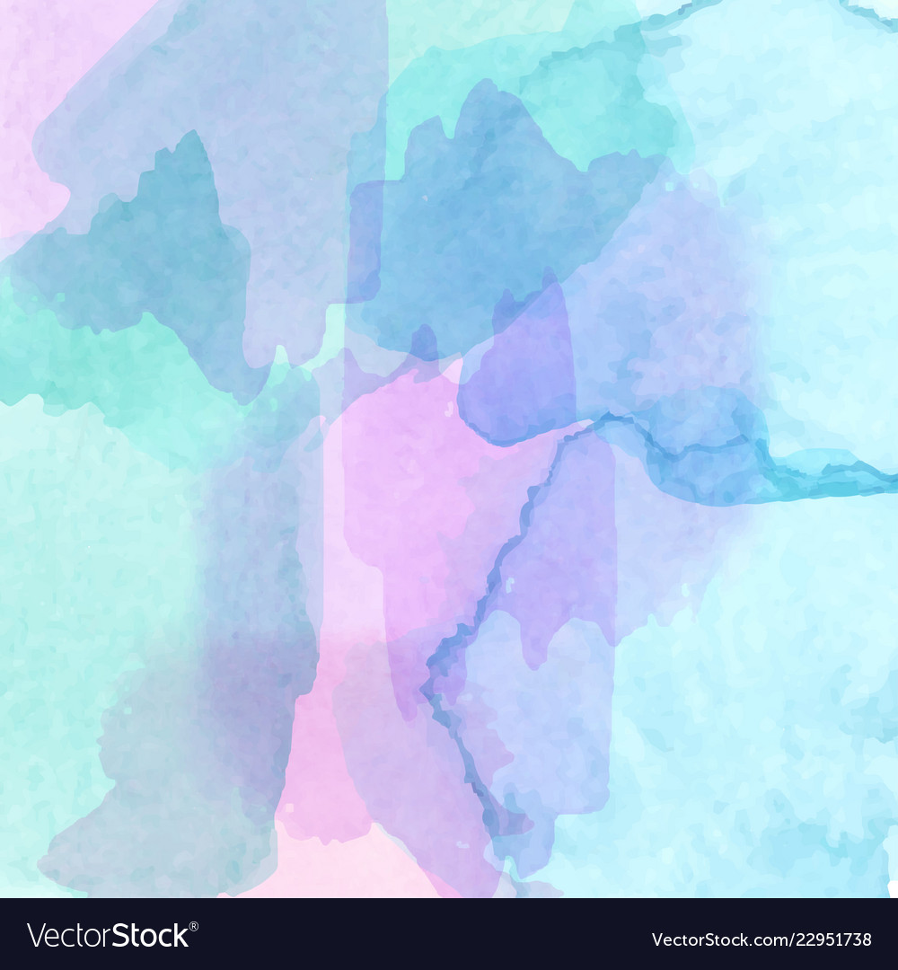 Abstract watercolor art hand paint on white