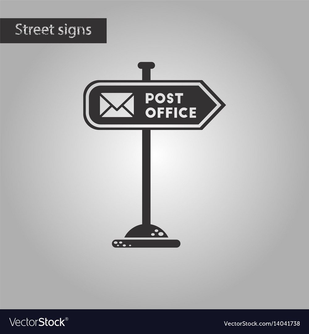 Black and white style icon sign post office