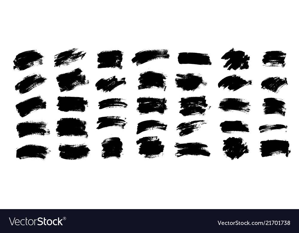 Black paint ink brush stroke brush