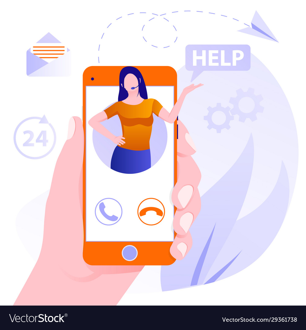 Customer support concept concept customer and