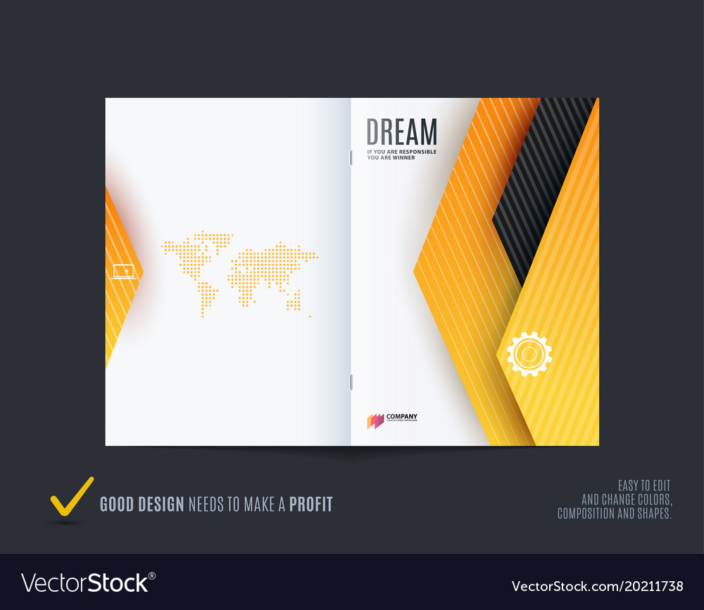 Material design of brochure set abstract annual