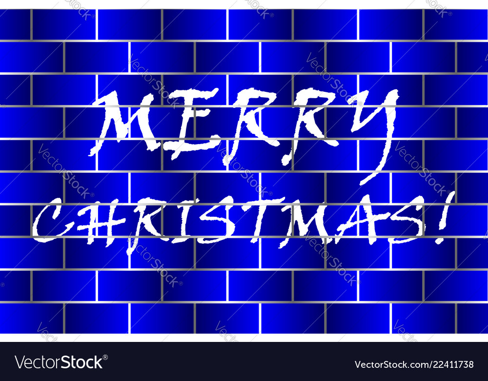 Merry christmas - white and blue