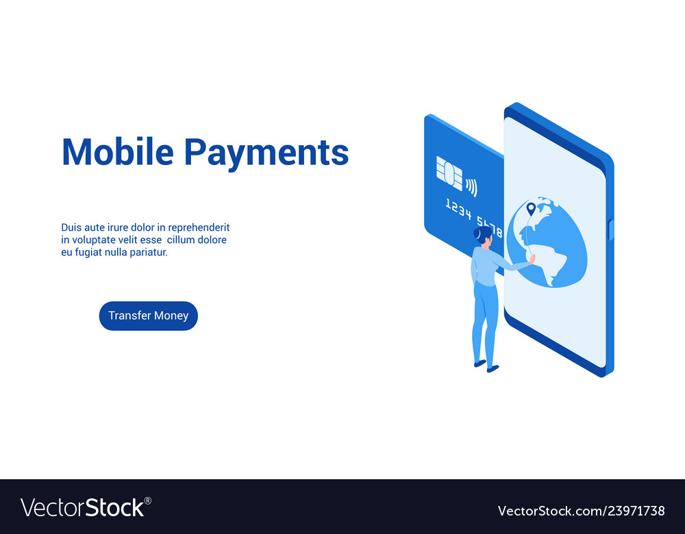 Mobile payments 3d template 2