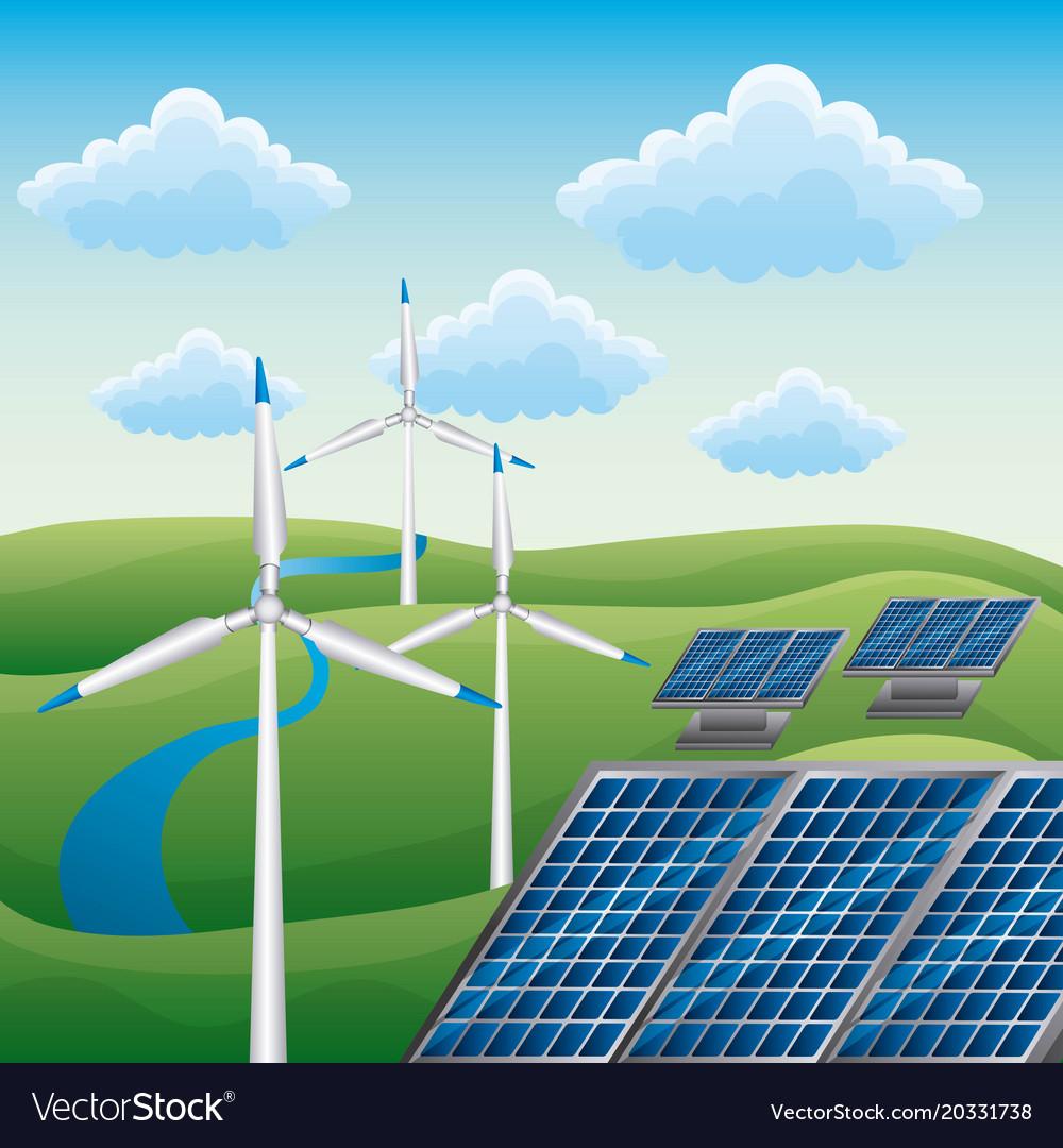 Wind turbine solar panel alternative energy source
