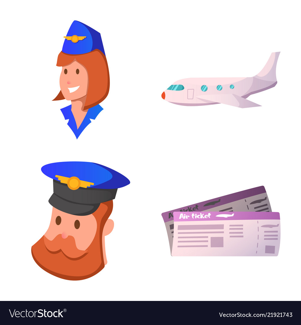 Airport and airplane icon