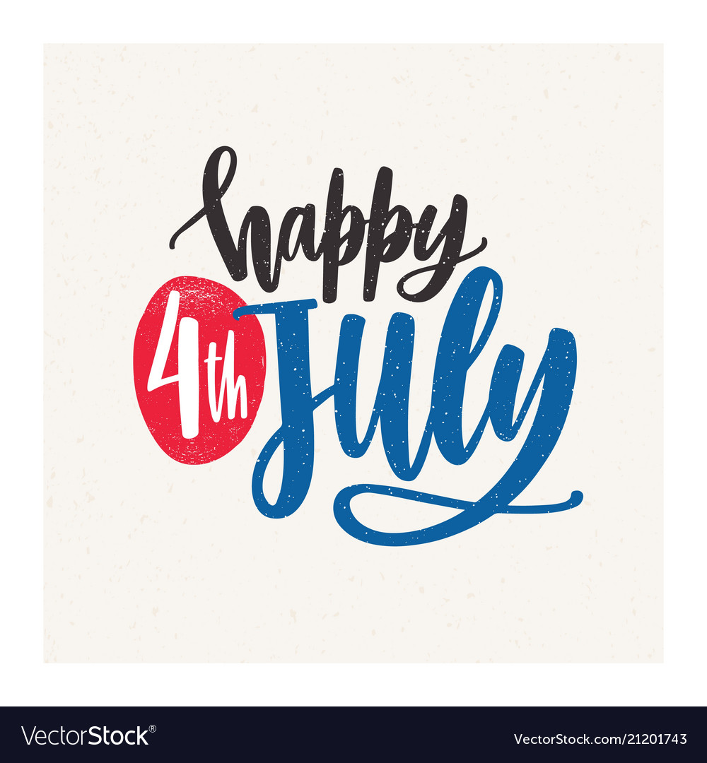 Happy 4th july holiday wish or inscription