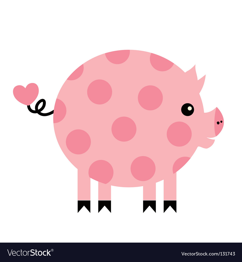 pig royalty free vector image vectorstock rh vectorstock com pig factory farming pig factories in china