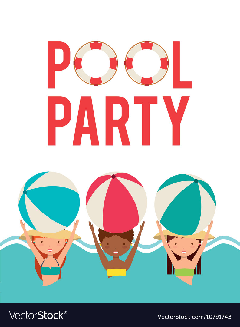 Pool party enjoy icon Royalty Free Vector Image