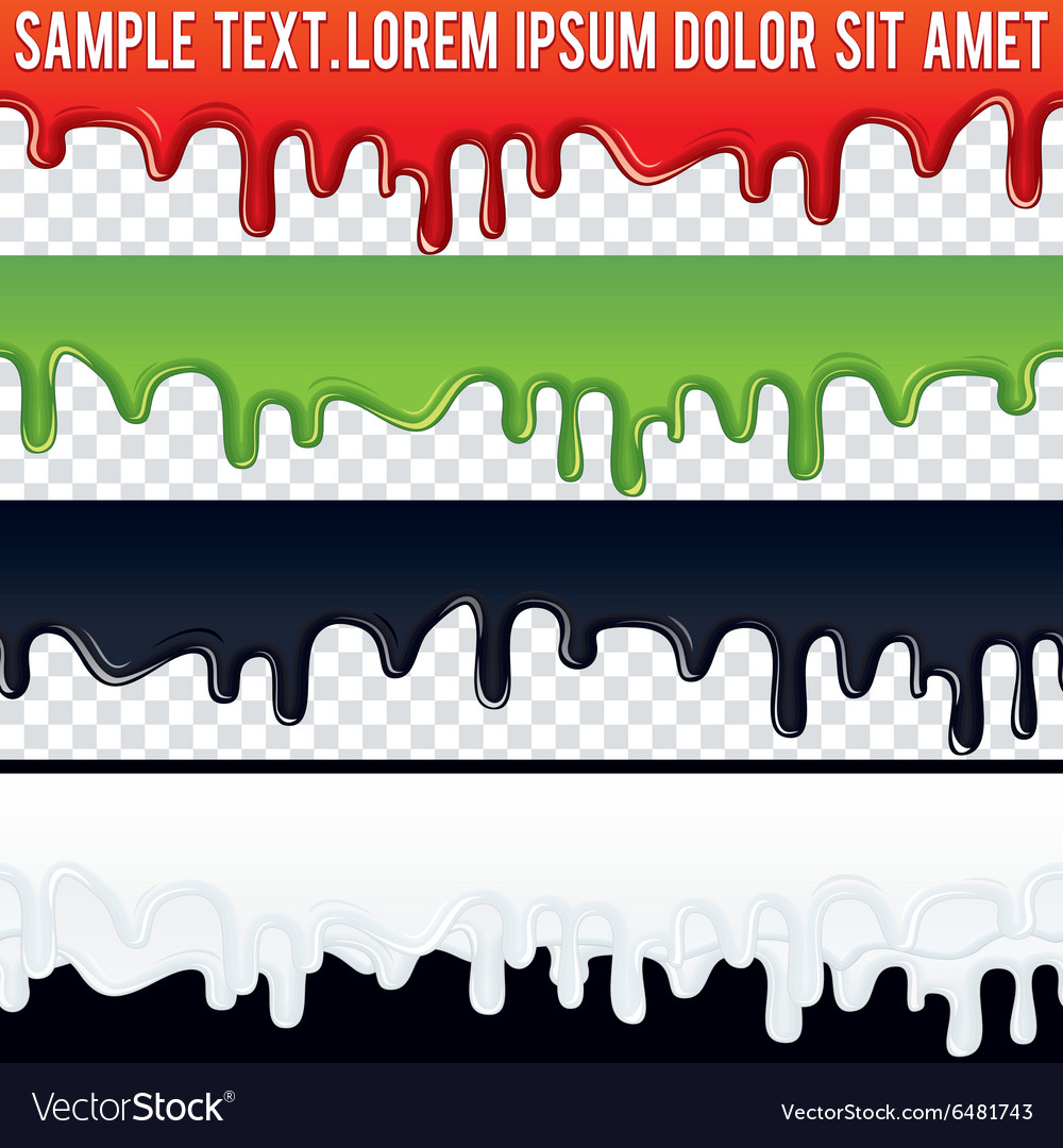 Seamless Drip Liquid Banner Ready for Your Text vector image