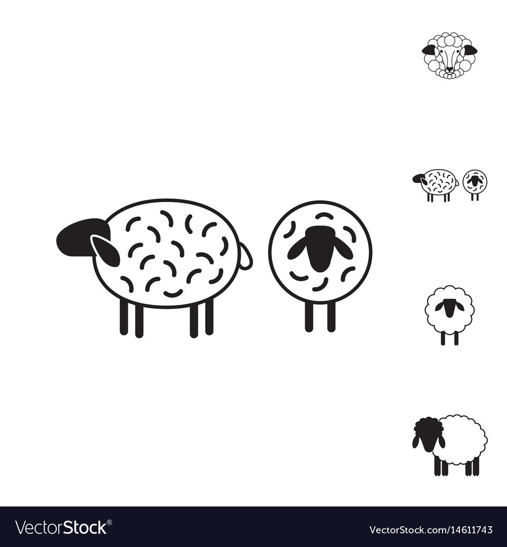 Sheep or ram icon logo template pictogram