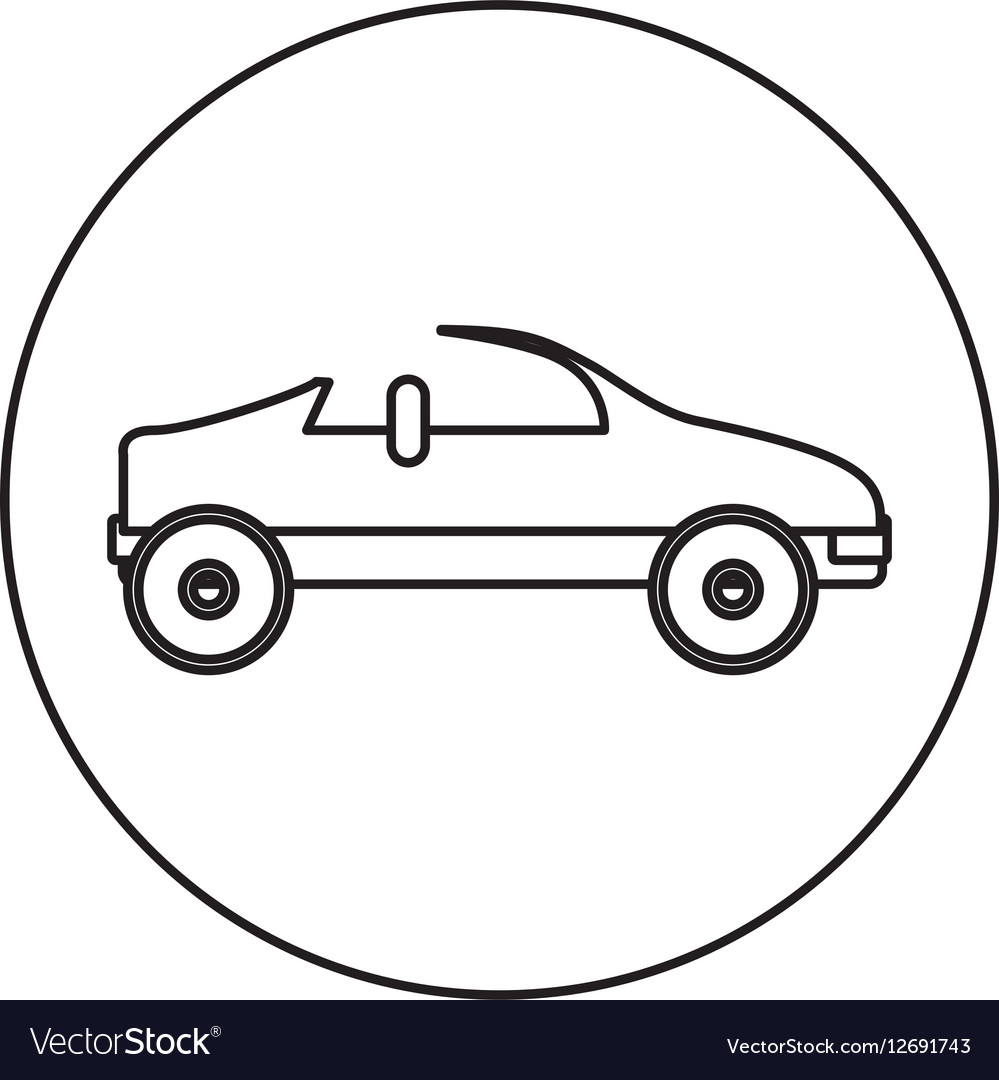 Silhouette circular shape with convertible
