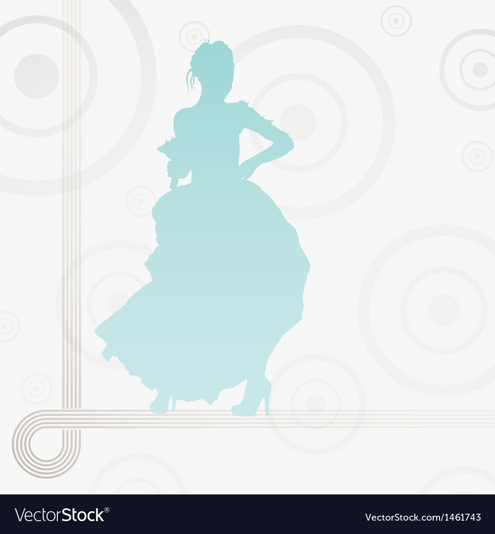 Young elegant bride holding flowers vector image