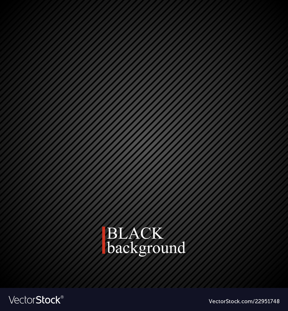 Black Texture Background With Stripe Line Vector Image