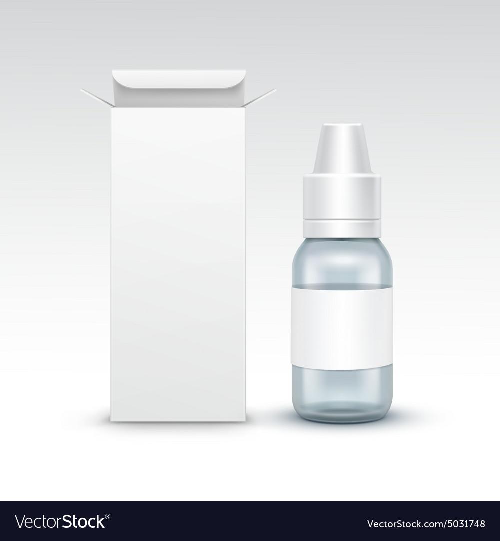 Blank Medicine Medical Glass Spray Bottle
