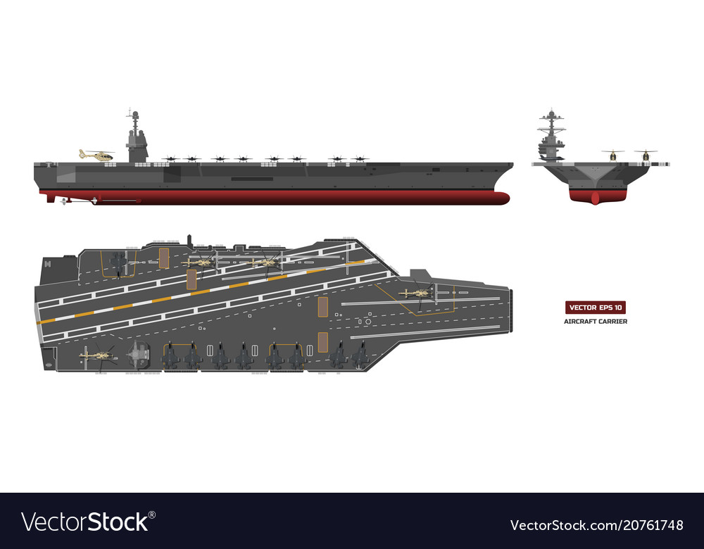 Detailed image of aircraft carrier military ship
