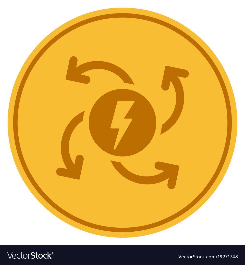 Electric generator gold coin