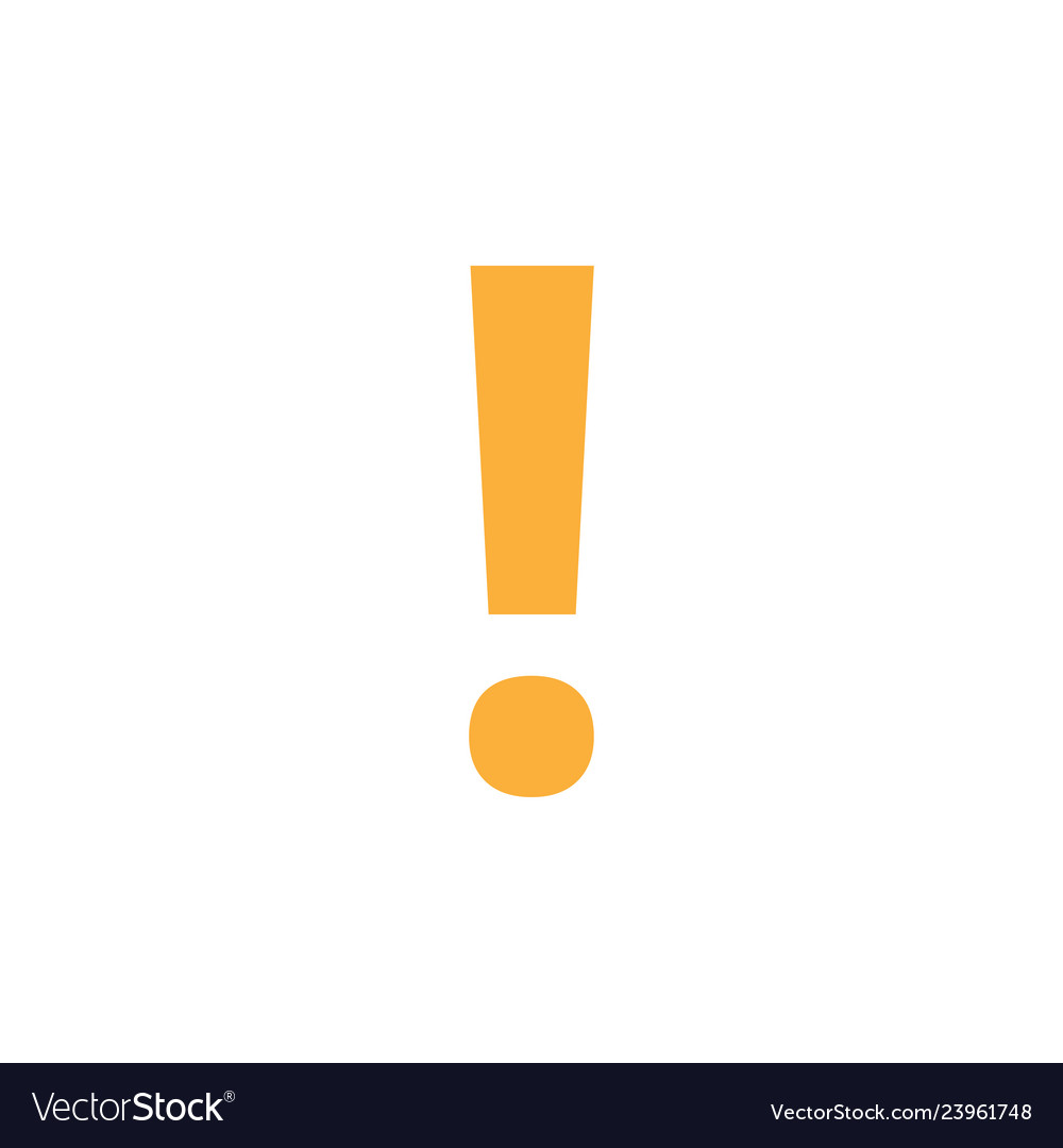 Exclamation mark icon design template isolated