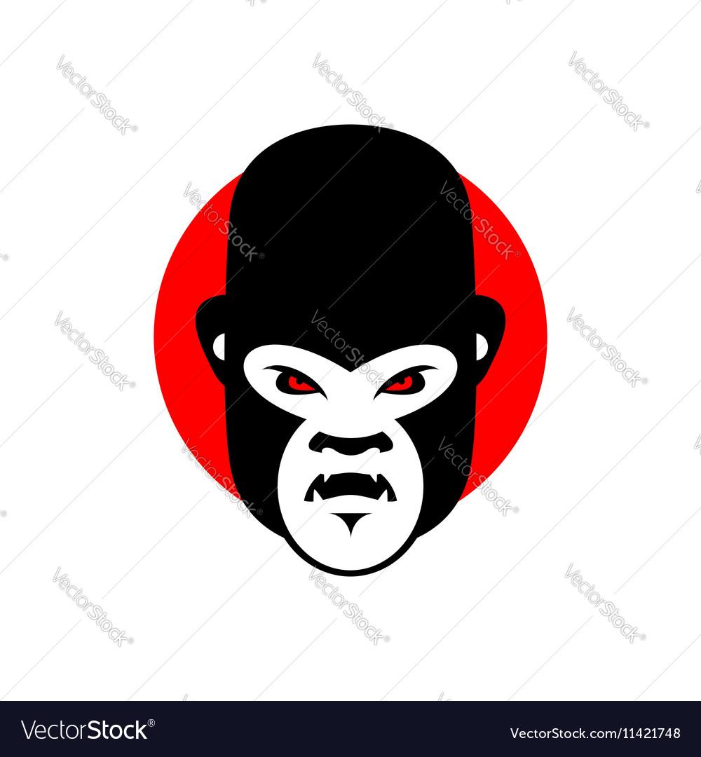Gorilla mascot Head of wild animal Aggressive
