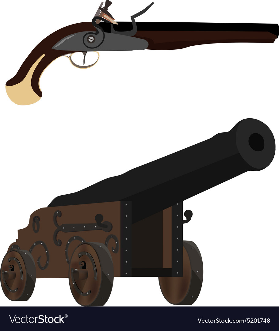 Musket and cannon