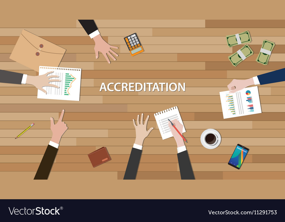 Accreditation concept with team